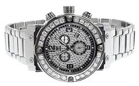 Aqua Master ,Aqua,Master,Mens,45mm,White,Diamond,W146,Chronograph,Swiss,Watch,4.5,Ct
