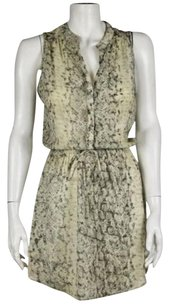 Aqua Womens Creme Green Dress