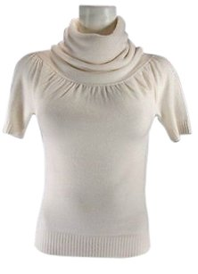 Aqua Short Sleeve Cashmere Top Ivory