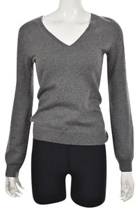 Aqua Womens V Neck Cashmere Speckled Shirt Sweater