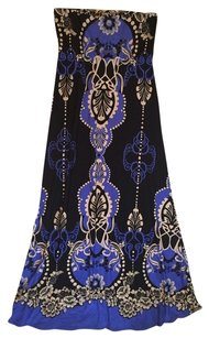 Arden B. Arden B. Blue Floral Dress Maxi Skirt Blue/combo