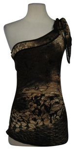 Arden B. B Womens Floral Top Brown