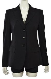 Armani Collezioni Armani Collezioni Womens Black Blazer Wool Wtw Career Jacket