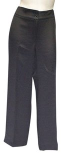 Armani Collezioni Navy Silk Blend Flat Trouser Hs2174 Pants