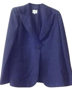 Armani Collezioni Rayon Polyester 2 Front Pockets Hankerchief Pocket Made In Italy Black Blazer