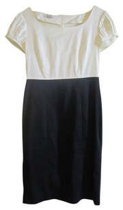 Artistry Cotton Puff Short Sleeves Stitched Vintage Classic Dress