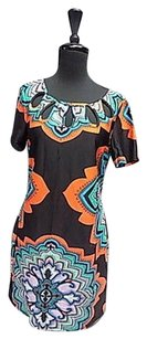 Aryeh short dress Black Green Coral And on Tradesy