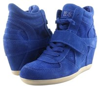 Ash Bowie Suede Womens Designer High Top Sneakers Cobalt/ Blue Athletic