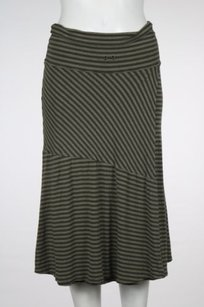 Athleta Womens Striped Skirt Olive
