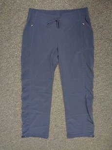 Athleta Athleta Blue Elastic Waist Casual Drawstring Wide Leg Pants Sma7191