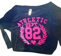 ATHLETIC DEPT 2-PIECE VELOUR OFF-THE-SHOULDER SWEATSUIT (SIZE XL). WORN TWICE.
