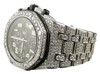 Audemars Piguet Mens Iced Out Audemars Piguet Royal Oak Offshore Diamond Watch Ct