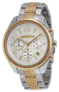 A|X Armani Exchange ARMANI EXCHANGE Crystal Two-Tone Stainless Steel Ladies Watch AX5518