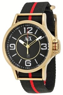 A|X Armani Exchange Armani Exchange Men's AX1581 Analog Display Analog Quartz Black Watch