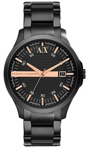 A|X Armani Exchange Armani Exchange Smart Black Stainless Steel Mens Watch