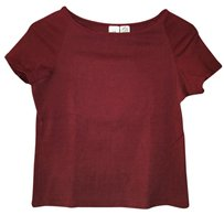 A|X Armani Exchange Casual Evening Top Burgundy