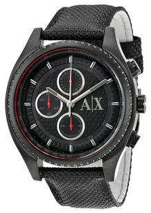 A|X Armani Exchange Chronograph Black Dial Black Nylon Men's Watch
