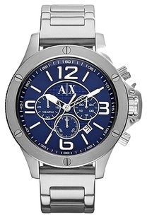 A|X Armani Exchange Chronograph Blue Dial Stainless Steel Men's Watch