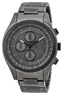 A|X Armani Exchange Chronograph Grey Violet-tinted Dial Gunmetal Ion-plated Men's Watch
