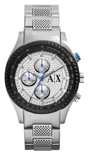 A|X Armani Exchange Chronograph Silver Dial Stainless Steel Men's Watch