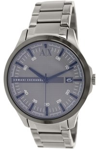A|X Armani Exchange Grey (Violet-tinted) Dial Gunmetal Ion-plated Men's Watch
