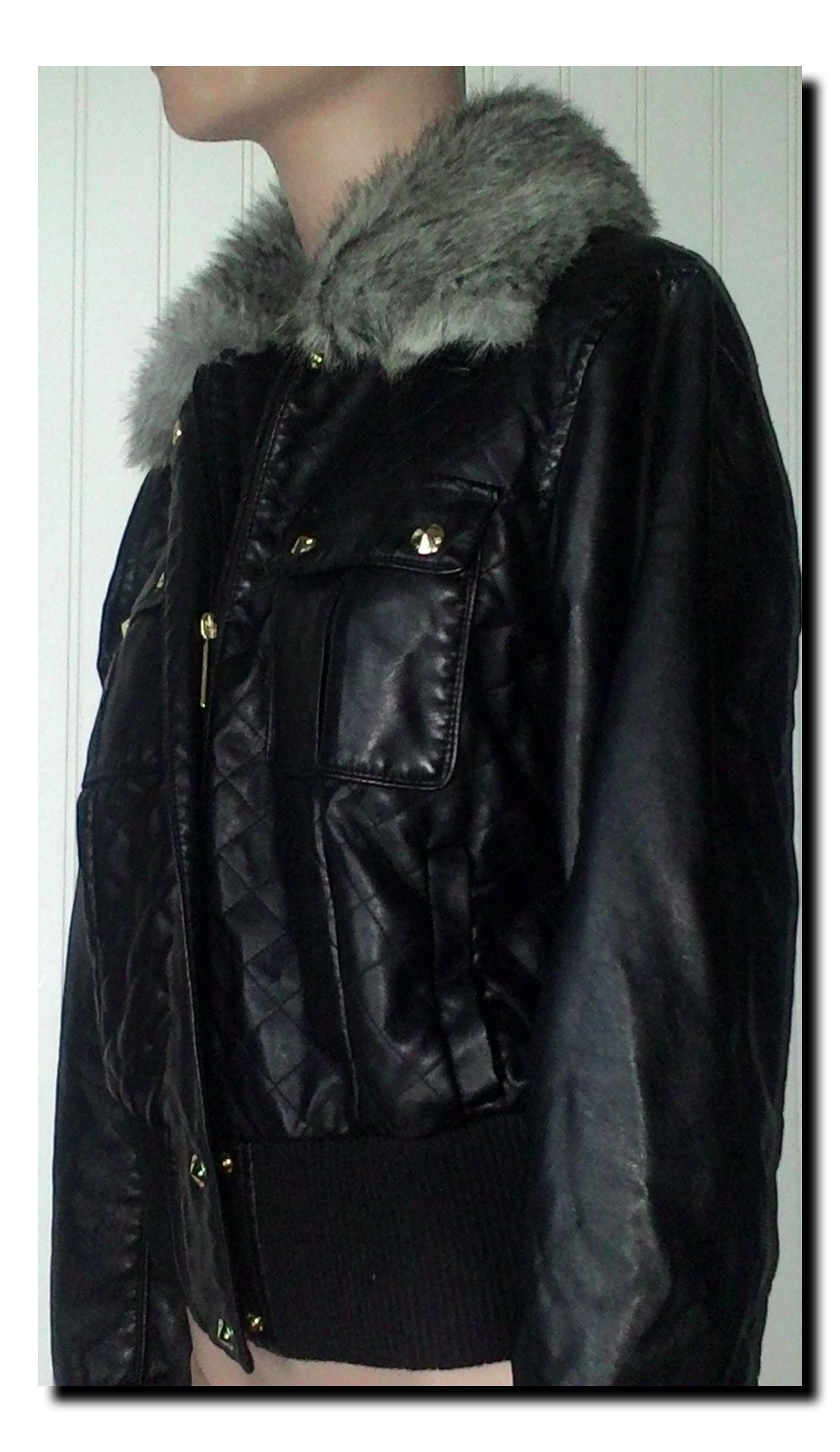 5122a0686b Baby phat black faux leather jacket size tradesy baby phat black leather  jacket jpg 1480x2557 Baby