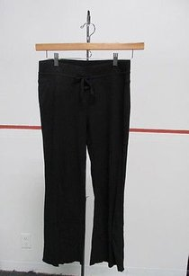 Babystyle Babystyle Black Cotton Drawstring Solid Casual Flat Front Pants P 27445