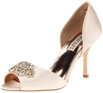 Badgley Mischka Fashion Pump Wedding Bridal Latte Pumps