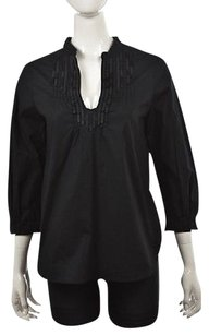 Badgley Mischka Womens Cotton Casual 34 Sleeve Shirt Tunic
