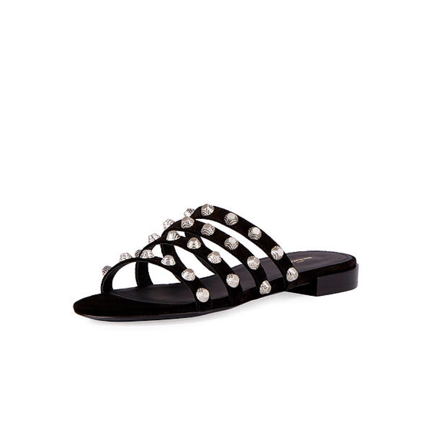 footlocker finishline Balenciaga Suede Slide Sandals outlet where can you find V6nsLTZ