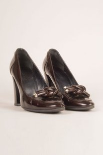 Balenciaga Patent Brown Pumps