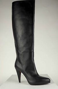 Balenciaga Leather Heels Eu40 Black Boots