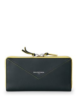 Balenciaga Papier Double Zip Wallet
