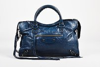 Balenciaga Navy Shoulder Bag