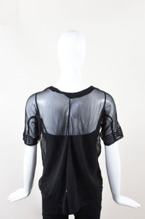 Balenciaga Silk Short Top Black