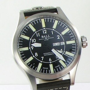 Ball Ball Nm1080c-l3-bk Engineer Master Ii Aviator 46mm Black Dial Leather