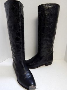 Bally Croc Leather Black Boots