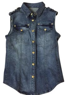 Balmain Button Down Shirt Denim