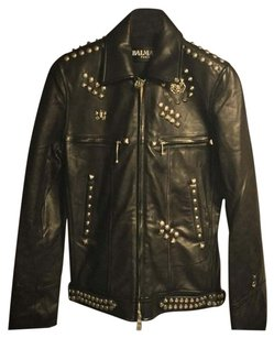 Balmain Leather Studs Studded black Leather Jacket