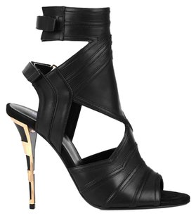 Balmain Sandals Sandels Leather Gold Fashion Pumps