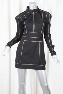 Balmain short dress Black Womens Knit on Tradesy