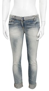 Balmain Denim Studded Low Skinny Jeans