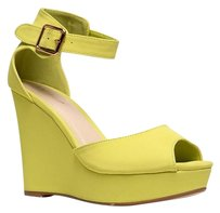 Bamboo Ankle-strap High-heel Lastcall Lance02limenub-7 Yellow Wedges