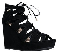 Bamboo Black Wedges