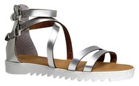 Bamboo Silver Sandals