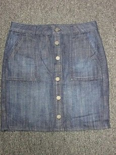 Banana Republic Front Jean Sm7803 Skirt Blue