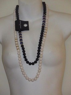 Banana Republic Banana Republic Bead Crystal Ring Gold Spacer Necklace 34.99 Black White Set
