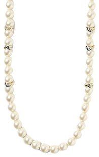 Banana Republic Banana Republic Bronze Golden Pearl Layer Necklace Silver