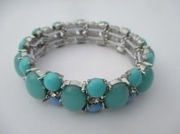 Banana Republic Banana Republic Cabochon Stretch Bracelet Blue Teal