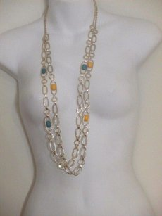 Banana Republic Banana Republic Gold Cabochon Crystal Layering Necklace Y B Set Of